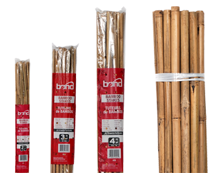 Natural Bamboo Stakes - 4' (25/Bag)
