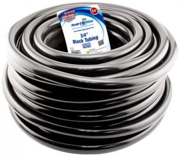 Black Vinyl Tubing - 3/4 in ID x 1 in OD - per foot