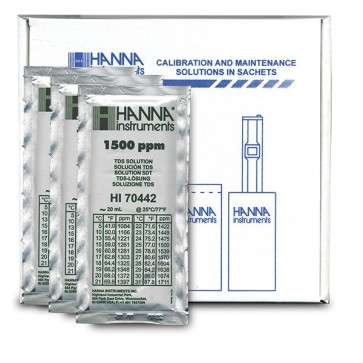 1500 ppm TDS Calibration Solution - 20 mL Sachet