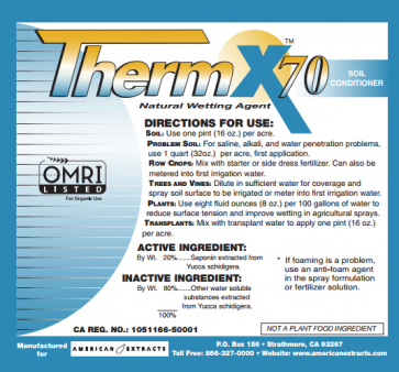 Therm X-70 Natural Wetting Agent - 4 ounce