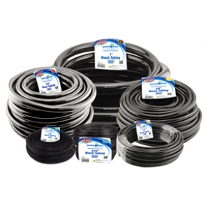 Black Vinyl Tubing - 3/16 in ID x 1/4 in OD - EZ Flex PVC - per foot