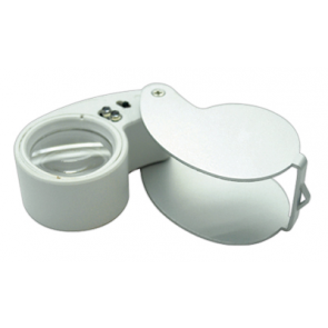 Lighted 40x Magnifier Loupe