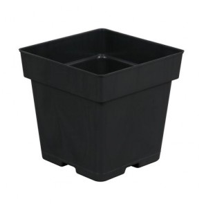 Black Square Pot 5.25in x 5.25in x 5.25in