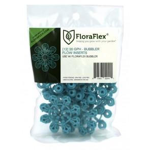 FloraFlex Bubbler Flow Insert - 20 GPH BLUE (pack of 12)