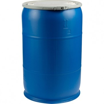 55 Gallon Poly Drum w/Lid - Reconditioned