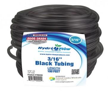 Black Vinyl Tubing - 3/16 in ID x 1/4 in OD - per foot
