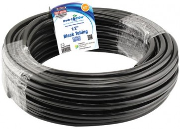 Black Vinyl Tubing - 1/2 in ID x 5/8 in OD - per foot