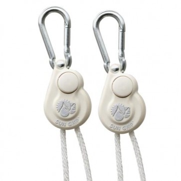 Sun Grip Push Button Light Hanger 1/8 in White -1/Pair