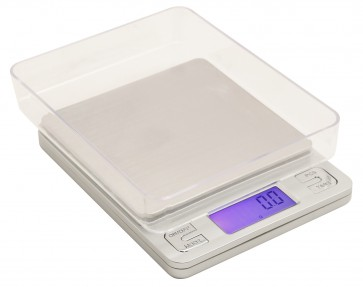 Measure Master 3000g Digital Table Top Scale w/ 2 Trays - 3000g Capacity x 0.1g Accuracy