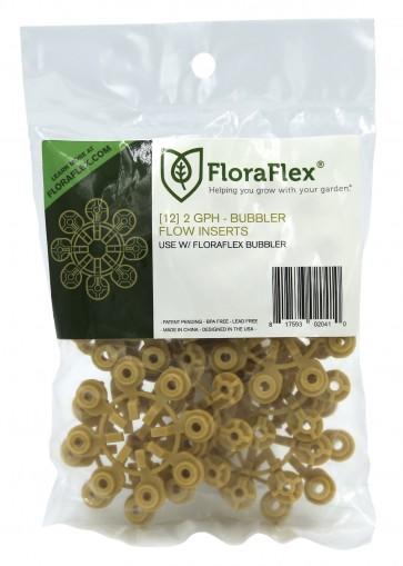 FloraFlex Bubbler Flow Insert - 2 GPH YELLOW (pack of 12)