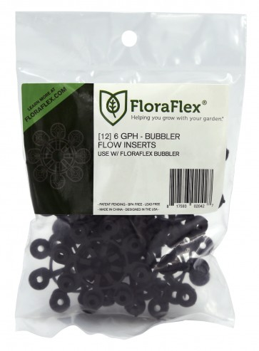 FloraFlex Bubbler Flow Insert - 6 GPH BLACK (pack of 12)
