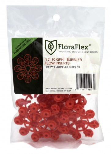 FloraFlex Bubbler Flow Insert - 10 GPH RED (pack of 12)