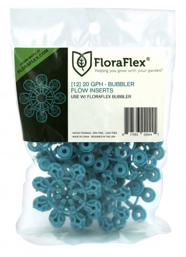 FloraFlex Bubbler Flow Insert - 20 GPH BLUE (pack of 12)