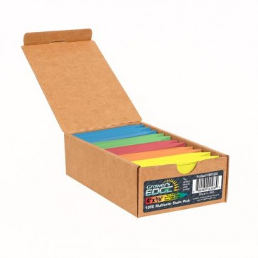 Grower's Edge Plant Stake Labels Multi-Color Pack - 1000/Box