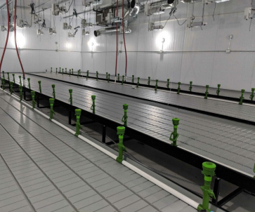 Continuous / Custom Tray Rolling Bench System - per square foot