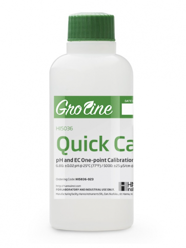Quick Cal Solution Solution for GroLine pH and EC Meters - 230 ml