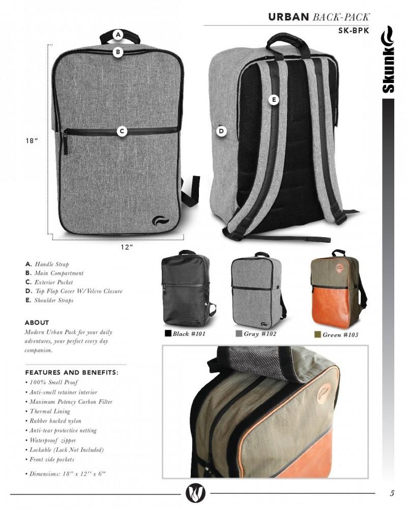 Skunkguard Odor Proof Urban Backpack Gray Zoom