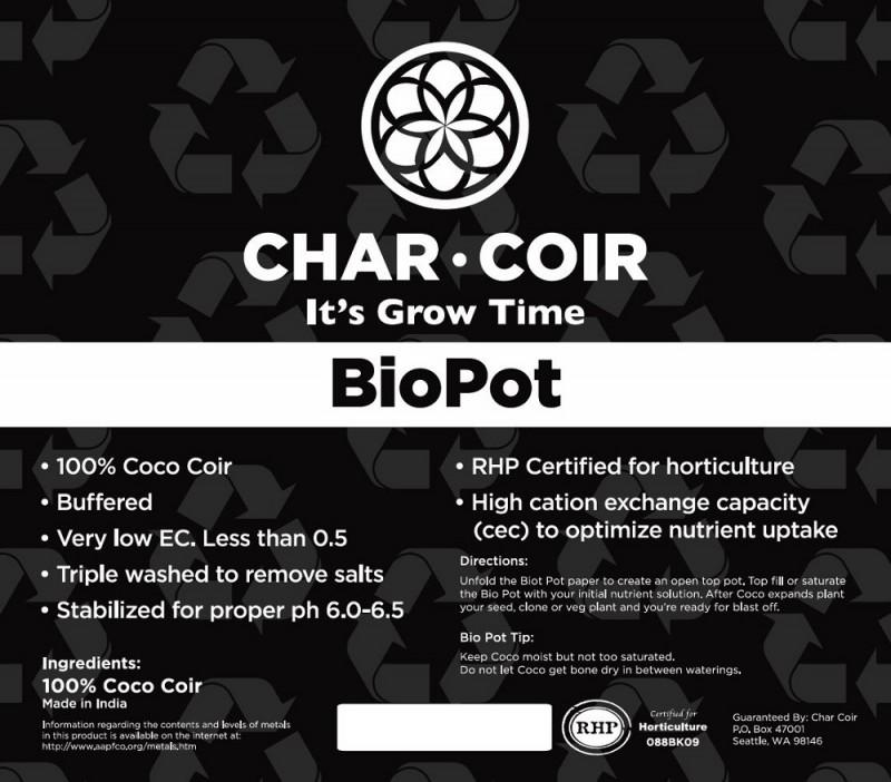 Char Coir BioPot - 8 Liter