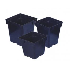 Black Square Pot 5.375in x 5.375in x 6.5in
