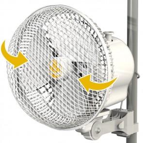 """Monkey Fan Pole Mounted Grow Tent Fan - 20W Fits 0.63-0.83"""" poles - OSCILLATING"""