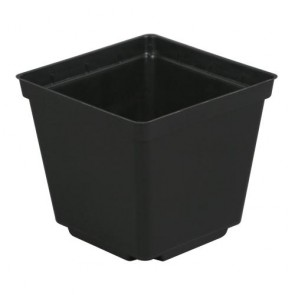 Black Square Pot 3.5in x 3.5in x 3in