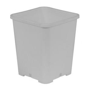 Gro Pro Premium White Square Pot 7 in x 7 in x 9 in