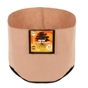 Gro Pro Essential Round Fabric Pot - Tan 10 Gallon