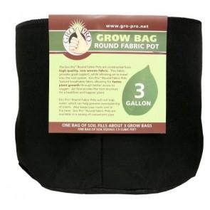 Gro Pro Premium Round Fabric Pot 3 gal