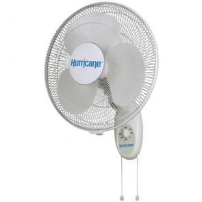 Hurricane Supreme Oscillating Wall Mount Fan 16in