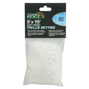 Grower's Edge Soft Mesh Trellis Netting 5 ft x 15 ft w/ 3.5 in Squares