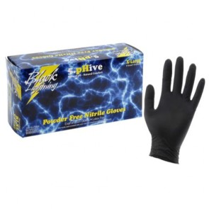 Black Lightning Powder-Free Nitrile Gloves - Large