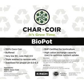 Char Coir BioPot - 4 in