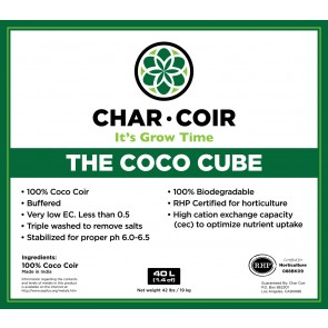 Char Coir Coco Cube - Compressed