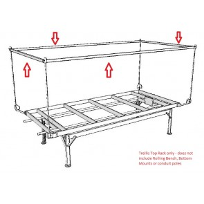 4ft x 6ft OD Trellis Top Rack for Rolling Bench System