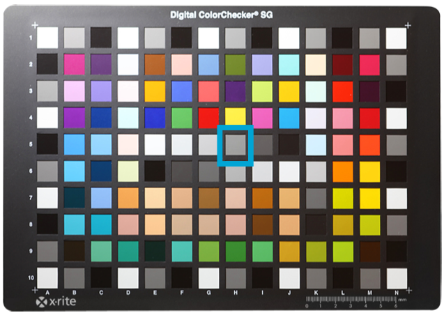 M7 Color Chart HPS Through Rendition Lens