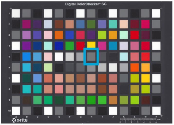 M7 Color Chart Balanced White Light