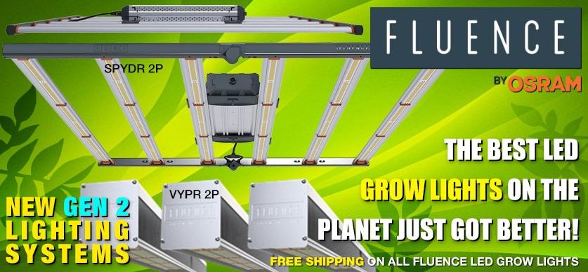 New GEN 2 SPYDR & VYPR LED Grow Lights from FLUENCE!